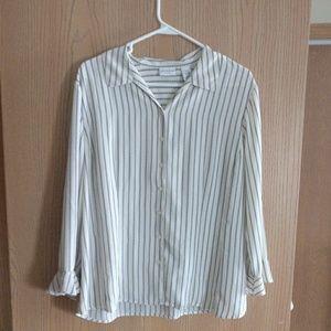 Covington 3/4 sleeve button up dress shirt, XL